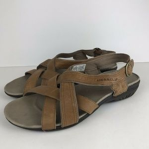 Merrell Bassoon Flat Leather Sandals